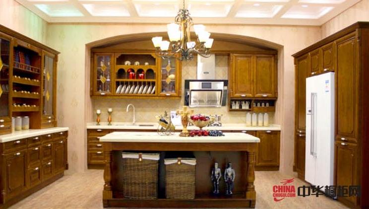 欧艺橱柜实木橱柜图片 古典风格整体橱柜效果图