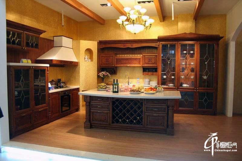 扬子厨柜实木系列橱柜效果图
