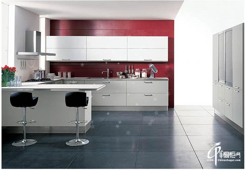 金属烤漆厨房橱柜效果图