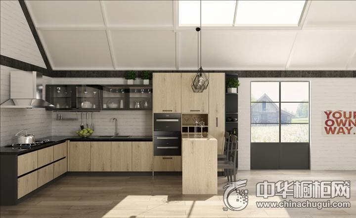 安泊厨柜挪威森林效果图 简约风格橱柜图片