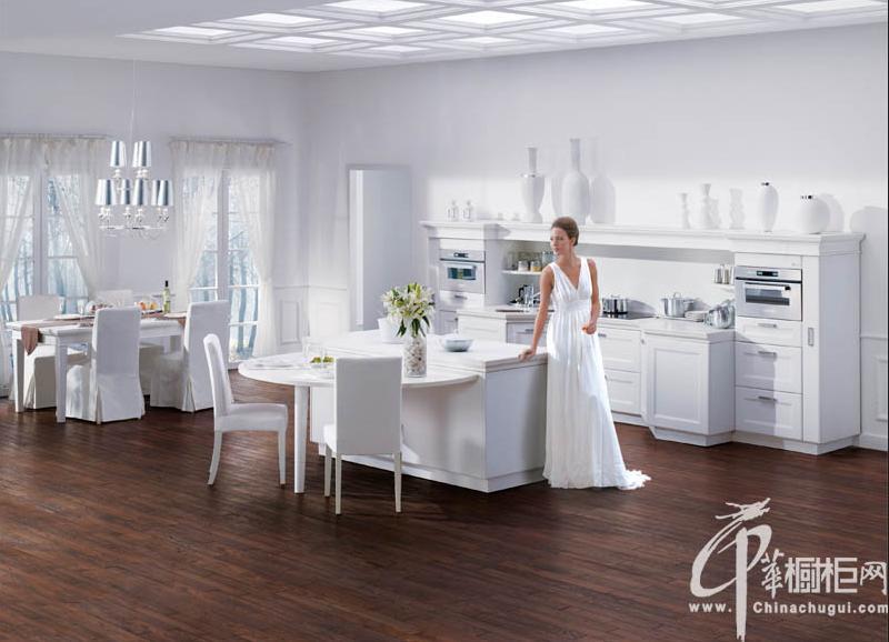 志邦厨柜图片维纳斯 白色橱柜设计图片 整体橱柜效果图欣赏