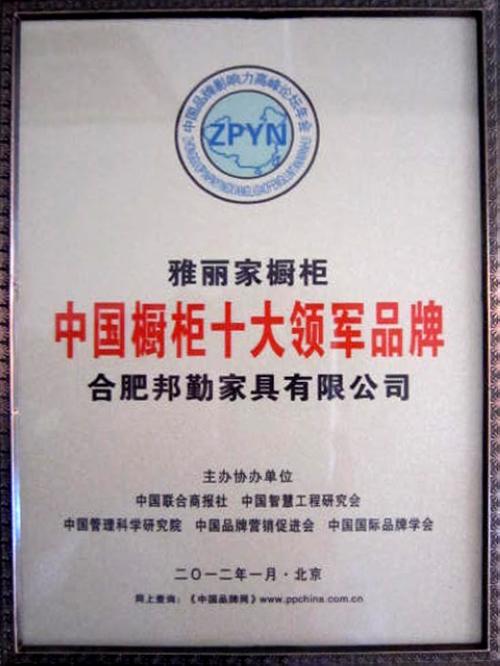 中国橱柜十大领军品牌