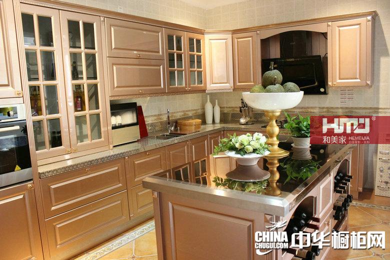 和美家白金厨柜    欧式烤漆系列    欧式风格橱柜图片