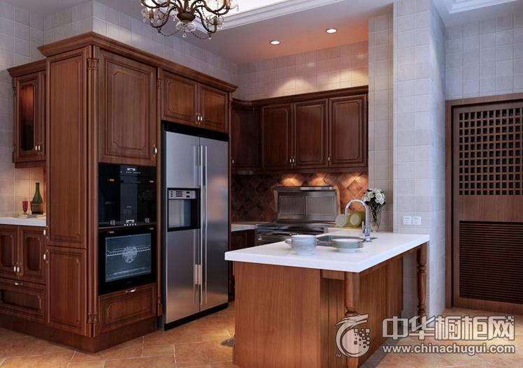 时哥电厨房效果图 岛型橱柜欧式风格橱柜图片