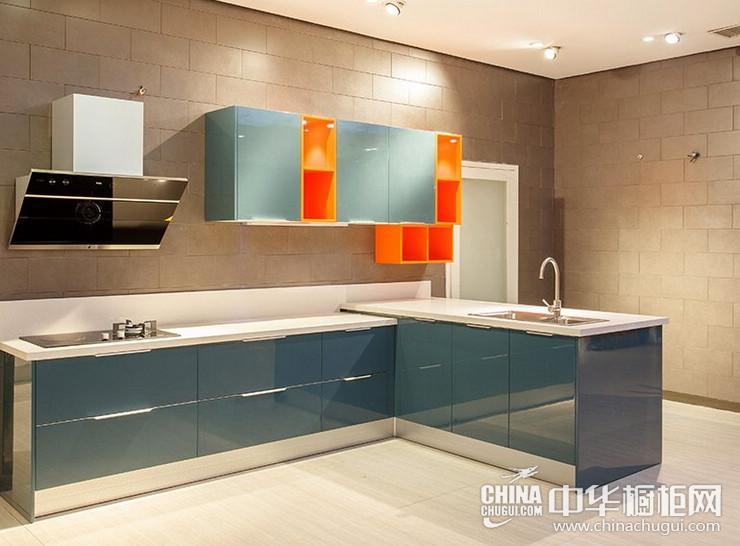 巨迪厨柜大咖蓝 简约风格橱柜图片