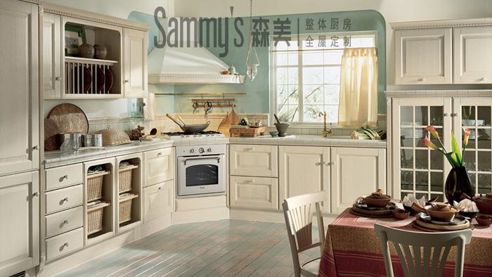 森美厨柜图片 森美厨柜简约风格橱柜图片