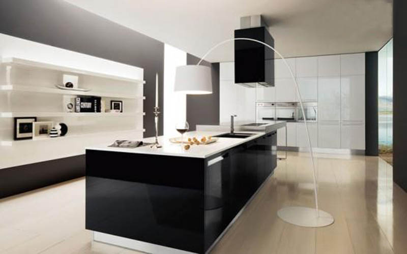 现代主义黑白橱柜灵性设计图