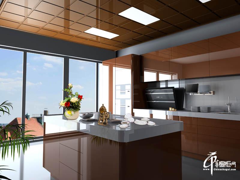 德莱宝橱柜简洁欧式咖啡色橱柜设计图