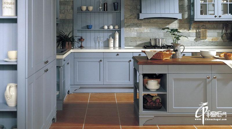 凯汶丽诗开放式厨房橱柜效果图
