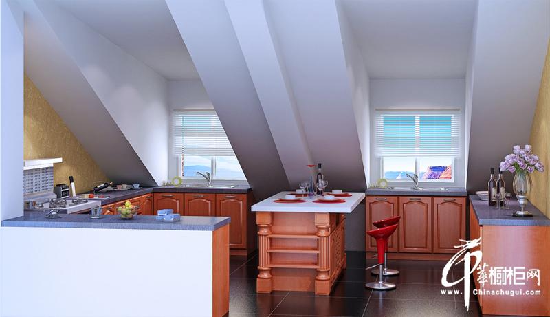 阁楼古风格橱柜装修设计效果图