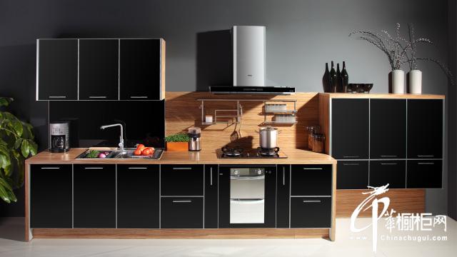 橱柜设计效果图 黑色现代雅致风格橱柜设计