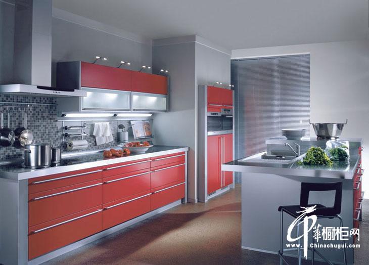 一字型櫥柜裝修效果圖 整體廚房設計效果圖