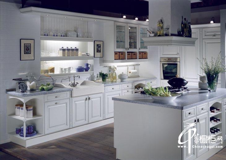 整体橱柜装修图片 英式田园风格厨房装修效果展示