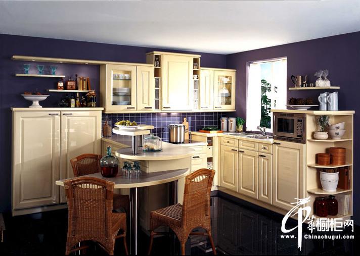 欧式田园风格橱柜设计图片 厨房装修效果图