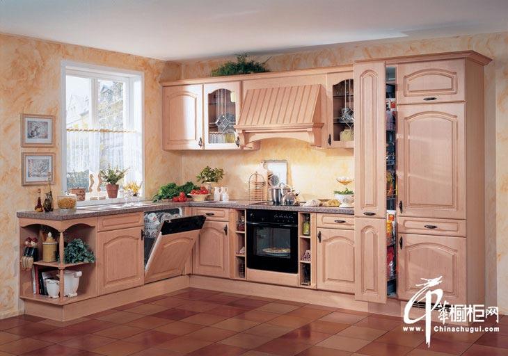 橱柜设计效果图 欧式风格厨房装修