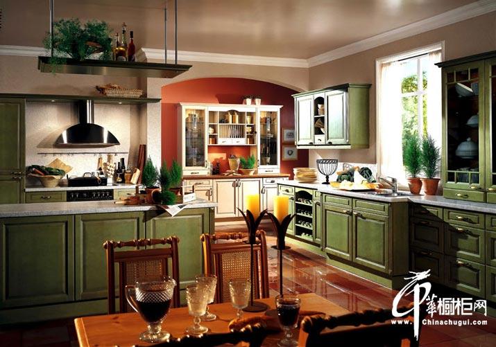 欧式新古典橱柜效果图 整体厨房装修效果图片分享