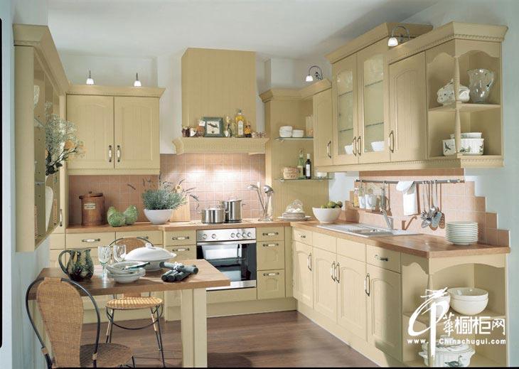 整体橱柜装修设计效果图片 欧式田园风格厨房弥漫温情