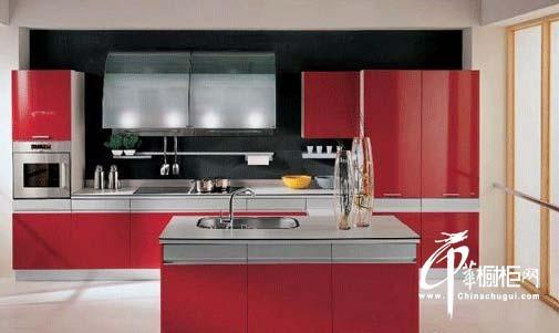 十款紅色櫥柜效果圖欣賞 冬季廚房裝修不再冷