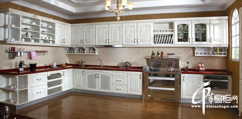 欧式古典风格整体橱柜装修设计图片 展现厨房设计的奢华与庄重