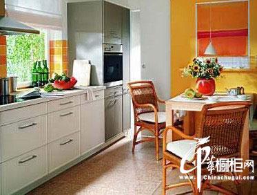 欧式厨房装修设计 橱柜搭配完美时尚厨房