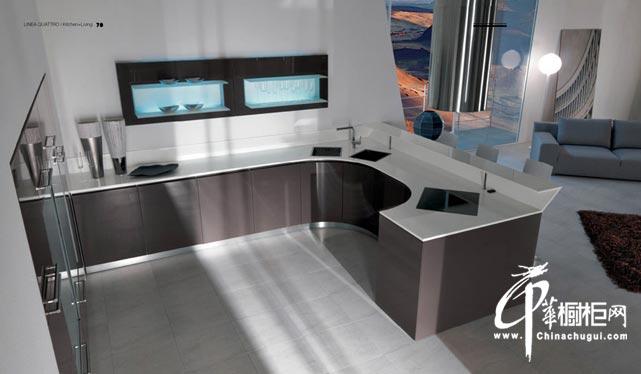 整体橱柜效果图片 现代简约风格厨房装修效果图