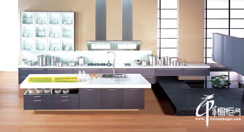 整体橱柜装修设计效果图片 厨房整体质感很强