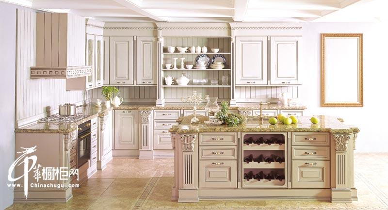 欧式实木橱柜装修设计图片 厨房装修设计效果图片