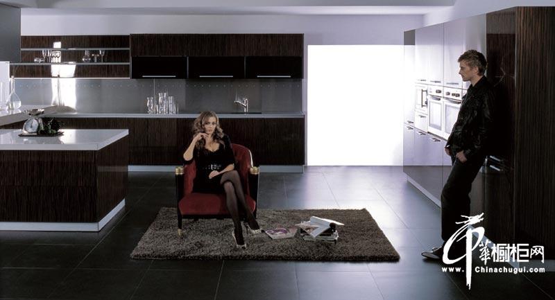现代时尚风格整体橱柜装修图片 厨房装修大气不凡