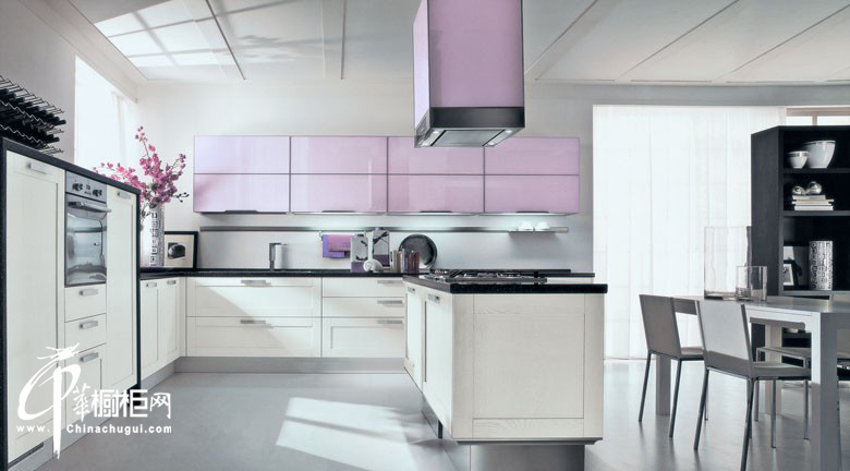 白色u型橱柜装修效果图片 厨房装修效果图大全2012图片