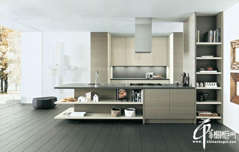 时尚简约风格整体橱柜装修图片|U型厨房装修效果图 飘出清香意境
