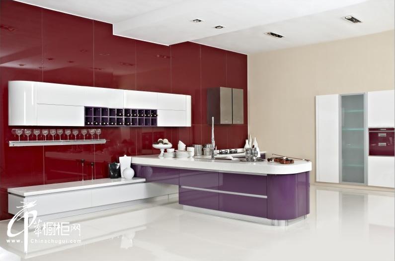 厨之宝整体厨房——t台诱惑 彩色橱柜效果图|厨房装修效果图