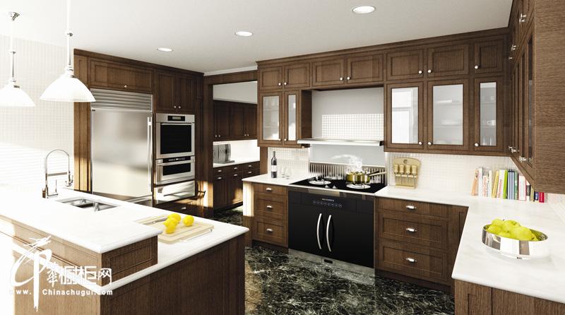 厨壹堂整体厨房朗悦集成系列 新古典厨房装修效果图|厨房装修效果图大全2012图片