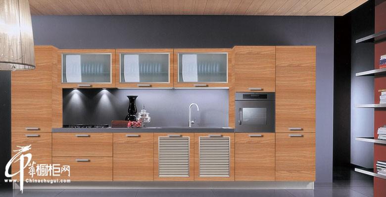 一字型简约橱柜装修设计图片 小厨房装修效果图展示厨房用具的完美