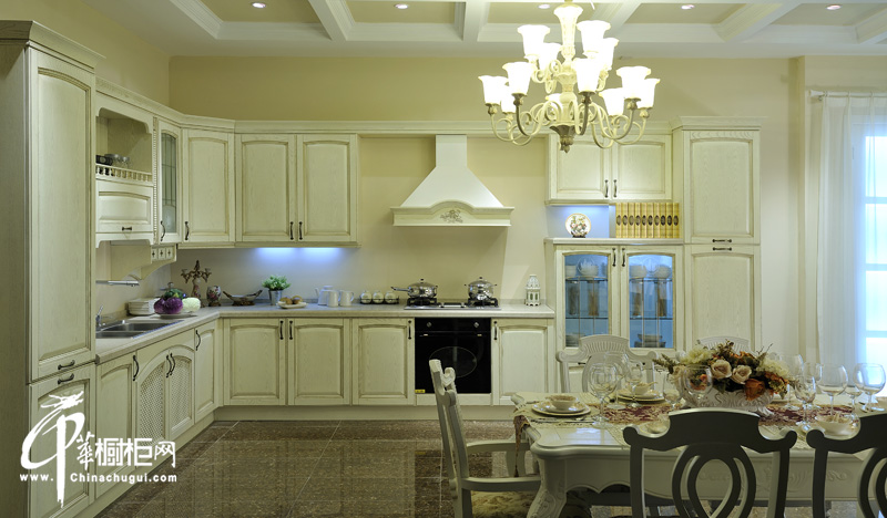 歐式古典櫥柜裝修圖片 廚房裝修效果圖大全2012圖片