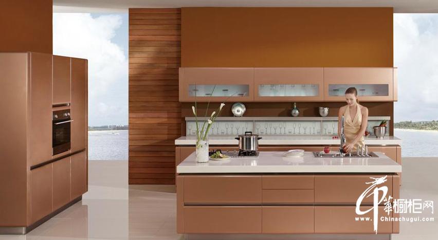 志邦香奈尔系列橱柜图片 厨房装修效果图展示奢华与时尚