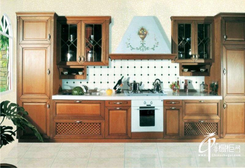 一字型整体橱柜装修设计图片 乡村风格小厨房装修效果