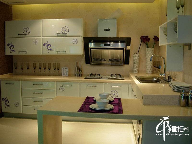 简约风格整体橱柜装修实景图 L型厨房装修效果图大全2012图片