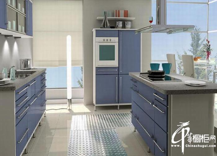 清新淡雅橱柜装修图片 现代时尚风格厨房装修效果图大全诠释清新明丽之感