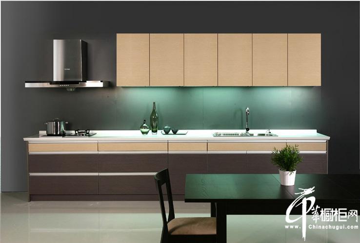 一字型现代简约风格橱柜装修图片 小户型厨房装修效果大全2012图片欣赏 浅浅的温馨一丝丝渗出