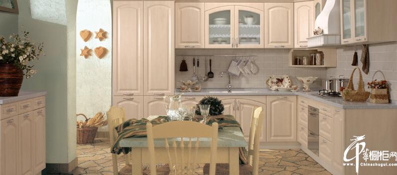 发现,宁静之美 欧式厨房整体橱柜图片效果图