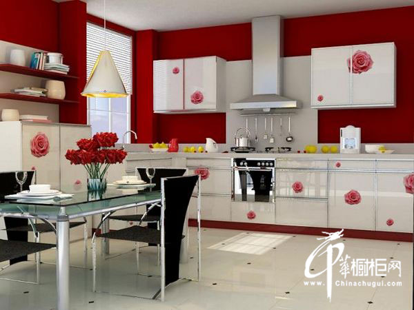 现代简约风格橱柜设计效果图 L型厨房装修效果图欣赏 厨餐一体化充分利用空间