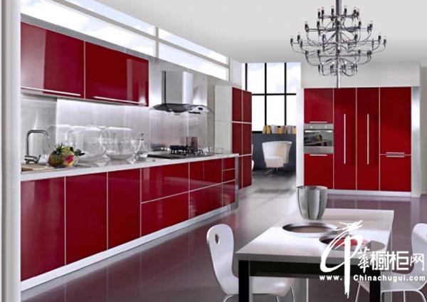 简约风格整体橱柜装修效果图 一字型整体厨房装修效果