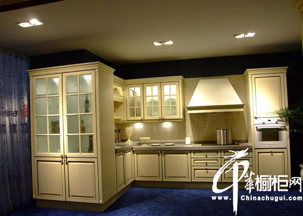 L型实用整体厨房设计 实用整体厨房装修  L型整体橱柜效果图大全