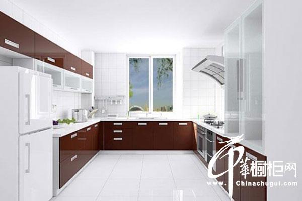U型整体橱柜装修效果图 简约风格厨房装修效果图尽显高贵大方