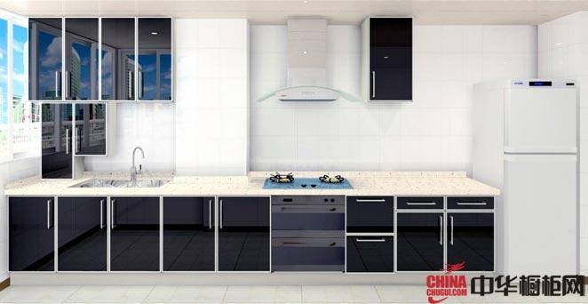 整体橱柜设计效果图-一字型小厨房装修效果图大全2012