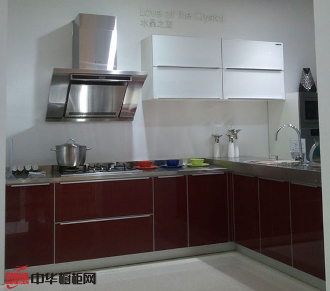愛得整體廚房裝修實景圖 簡約風格l型櫥柜裝修效果圖