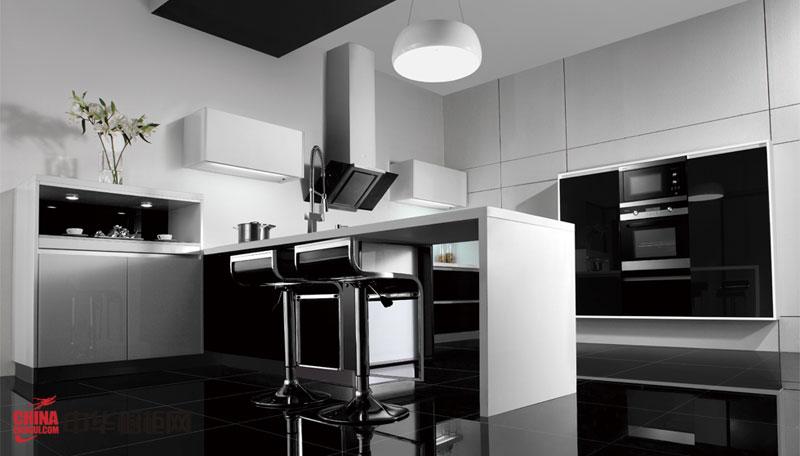 現代簡約風格整體櫥柜裝修圖片 u型廚房裝修效果圖開放式廚房設計使