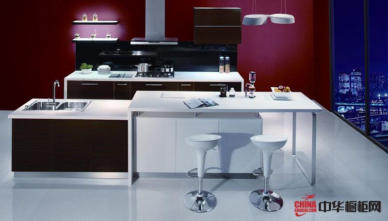 简约风格烤漆橱柜装修图片 现代时尚厨房装修效果图欣赏——咖啡时光