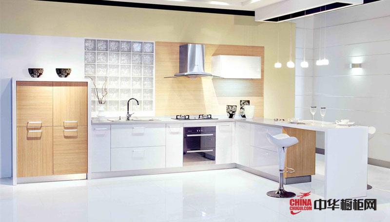 白色L型整体橱柜装修设计图片 乡村田园风格厨房装修效果大全——写意空间