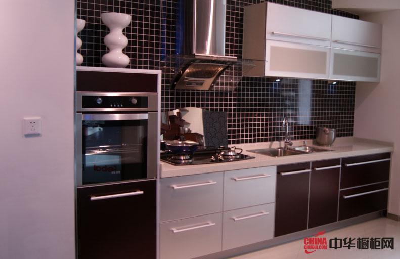 我乐橱柜设计效果图欣赏 一字型小户型整体厨房装修效果图展示小厨房